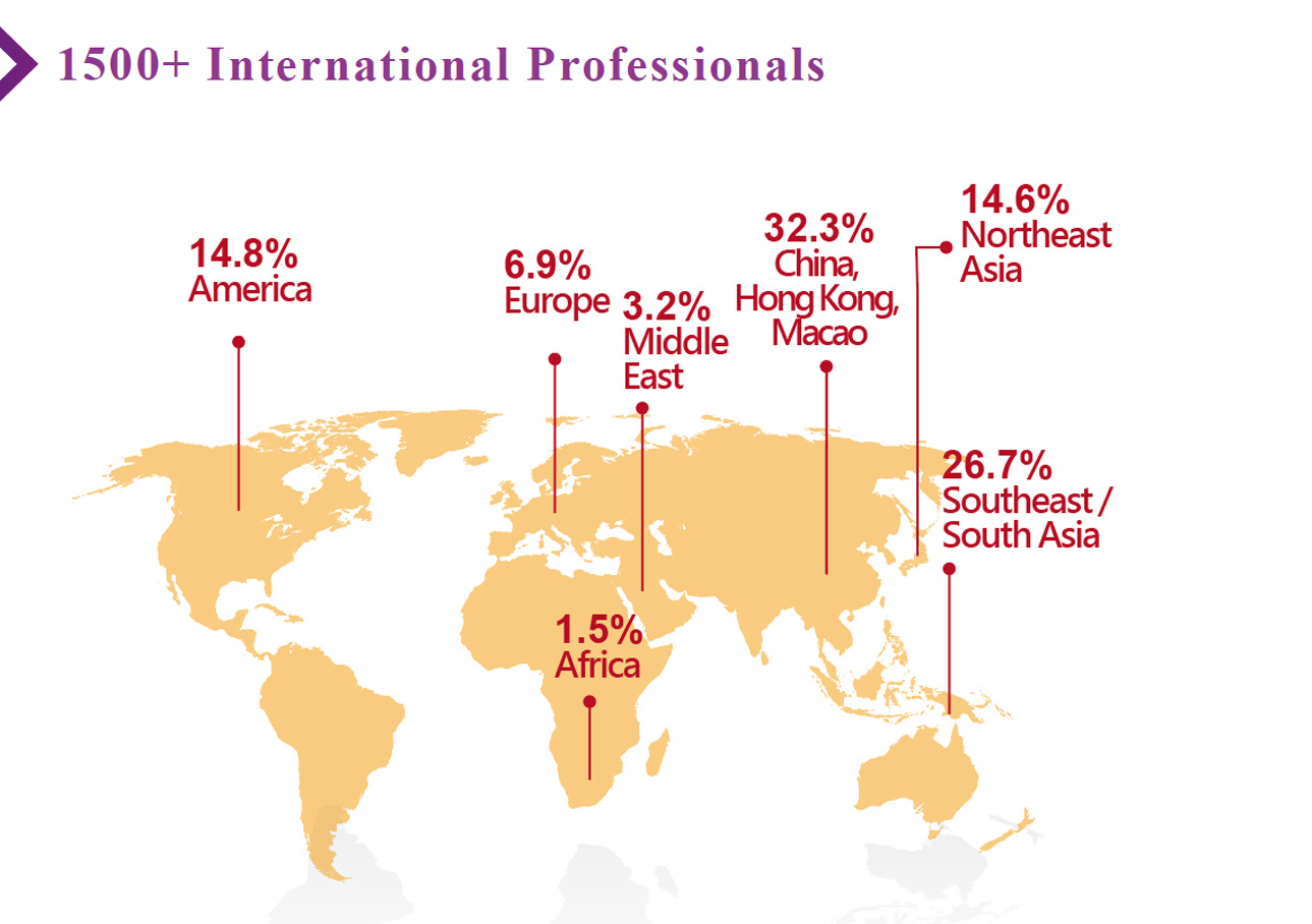 1500+ International Professionals