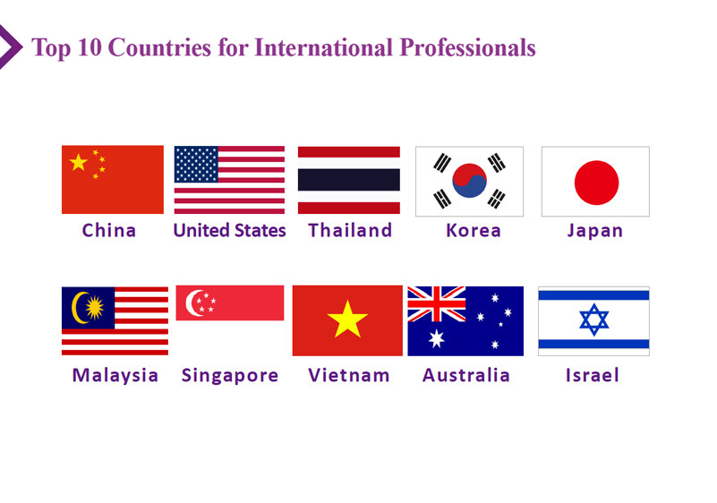 Top 10 Countries for International Professionals