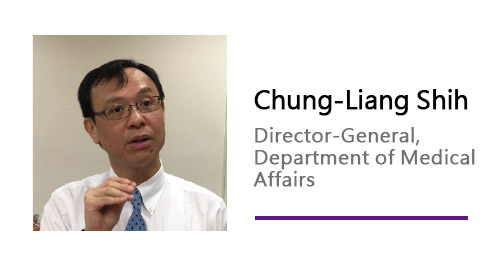Chung-Liang Shih/ Director-General, Department of Medical Affairs.