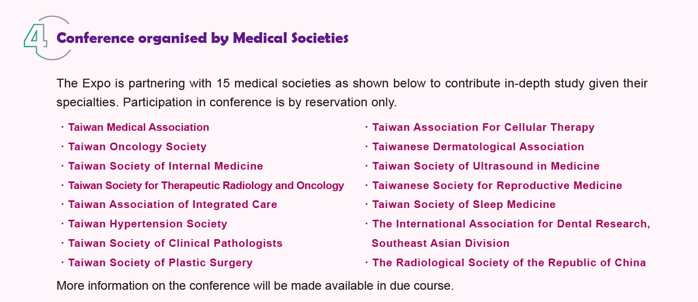 4.Conference organised by Medical Societies