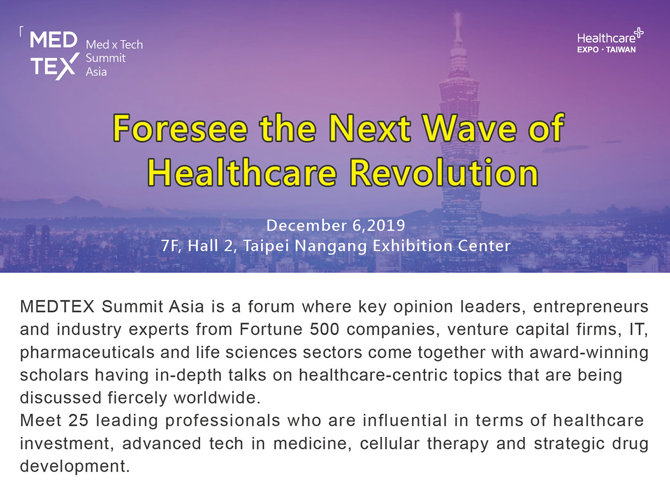 MEDTEX Foresee the Next Wave of Healthcare Revolution