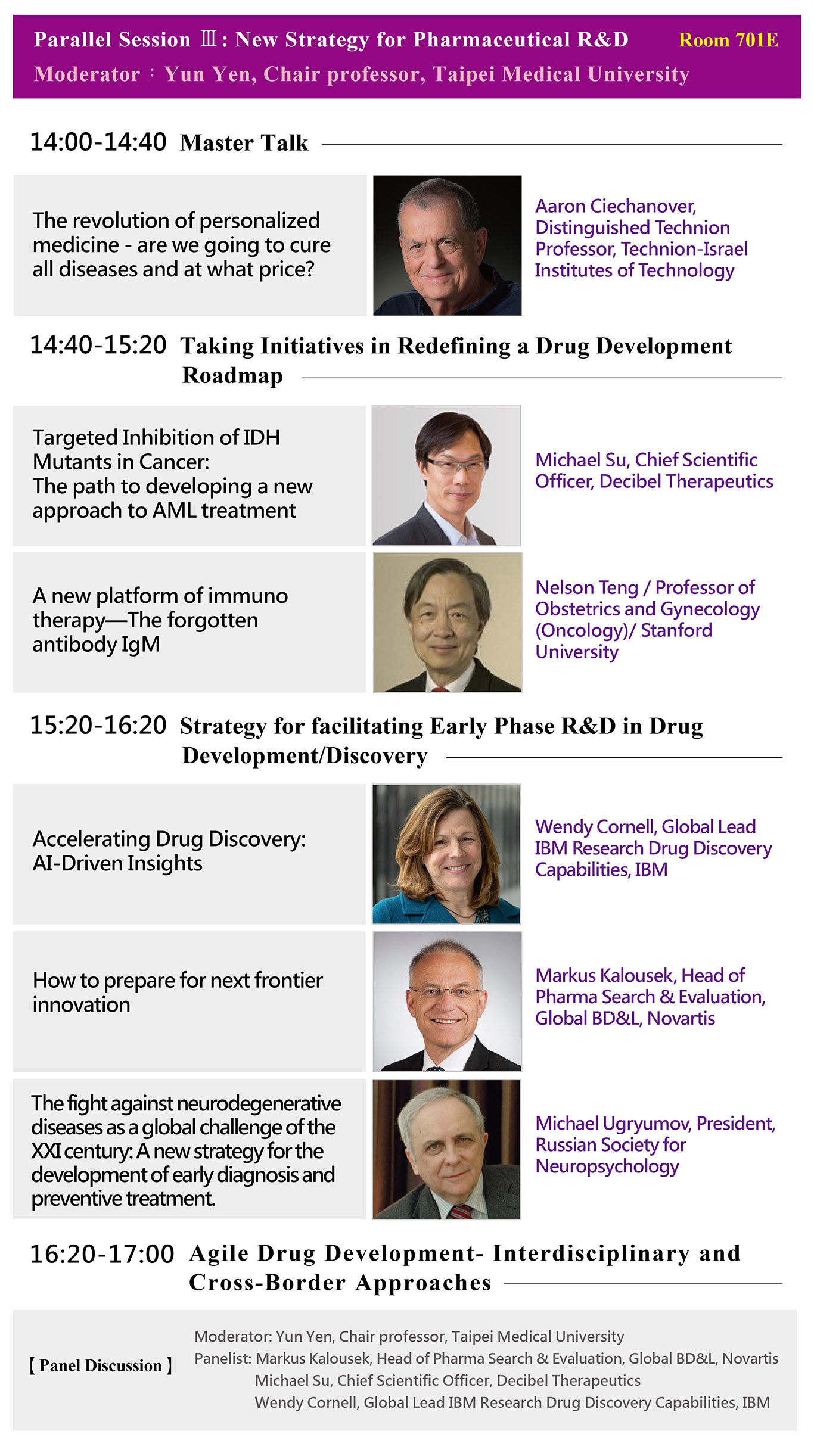 Parallel Session Ⅲ: New Strategy for Pharmaceutical R&D